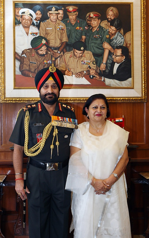 General Bikram Singh with wife Surjeet Kaur