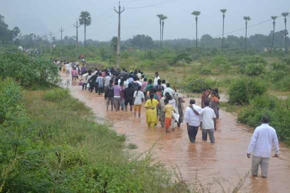 Thousands were rendered homeless following heavy rains in Andhra