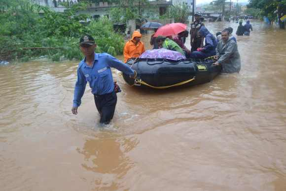 Relief workers rescue Vizag residents
