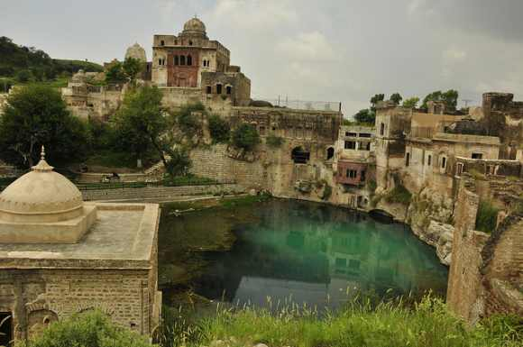 Pond formed with 'Shiva's tears' restored in Pak