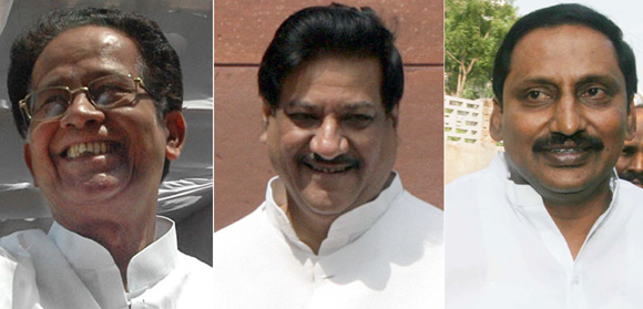 Are Chief Ministers Tarun Gogoi, Prithviraj Chavan and Kiran Reddy upto Rahul Gandhi's challenge?