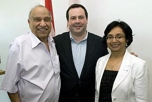 Jack Uppal (left), the Democratic candidate from California's Fourth Congressional District