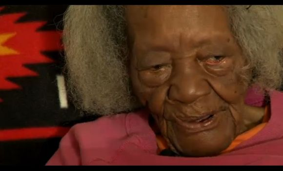 A video TV grab showing 99-year-old Rosie Lewis