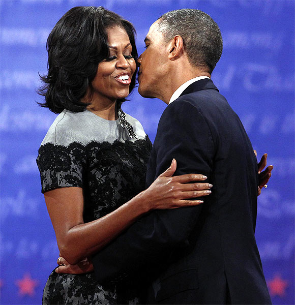US President Barack Obama with wife Michelle