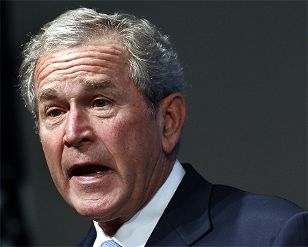 President George W Bush at an event in Washington DC.