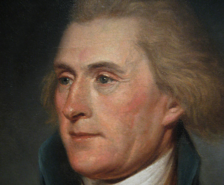 President Thomas Jefferson, courtesy the National Portrait Gallery