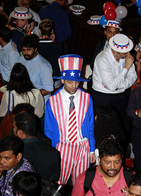 James Jania took a day off from his duties at the consulate to play Uncle Sam