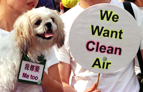 A protest against pollution in China