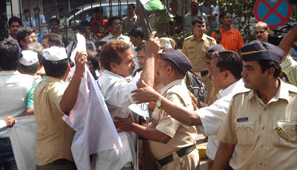 Police detain IAC activists