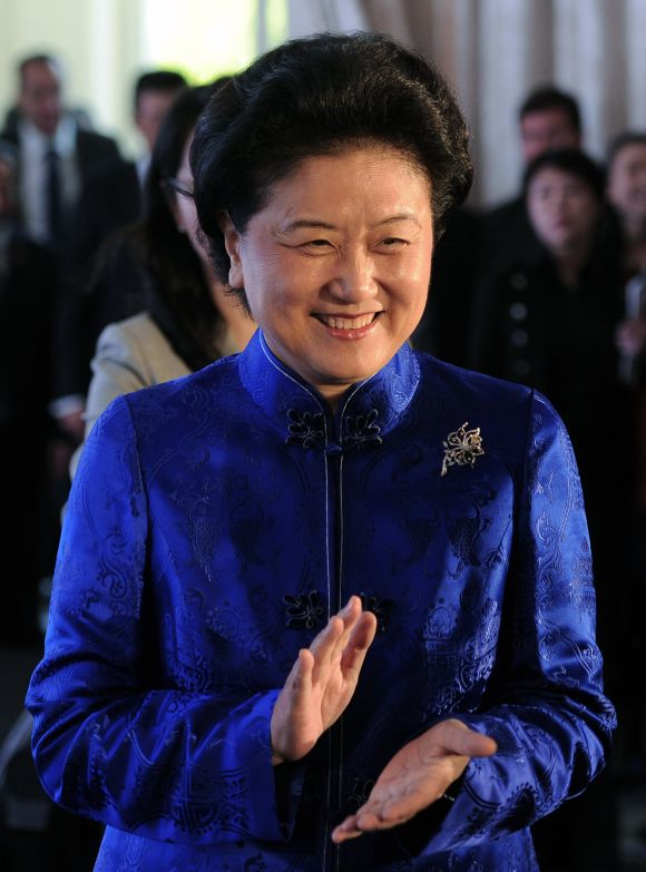 Member of China's Politburo Liu Yandong at a China market focus event at the London Book Fair.