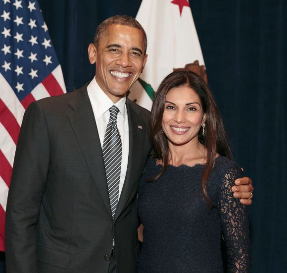 Shalini Kapoor Collins with President Barack Obama, a couple of days before the election