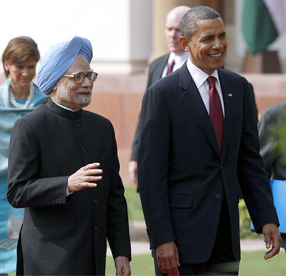 Obama with PM Manmohan Singh