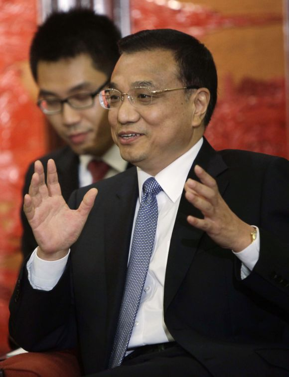 Chinese Vice-Premier Li Keqiang at the Zhongnanhai diplomatic compound in Beijing