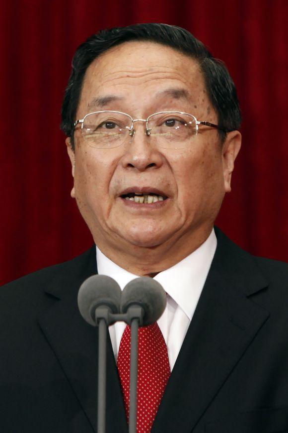 China's Shanghai Municipality Communist Party Secretary Yu Zhengsheng at the 10th Shanghai Municipal Congress of the Communist Party of China in Shanghai