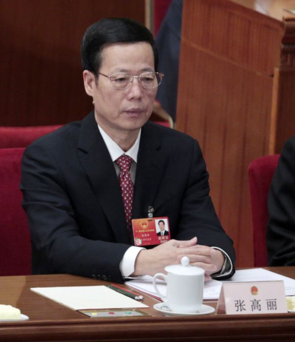 China's Tianjin Municipality Communist Party Secretary Zhang Gaoli attends the closing ceremony of the National People's Congress, China's parliament, at the Great Hall of the People in Beijing.