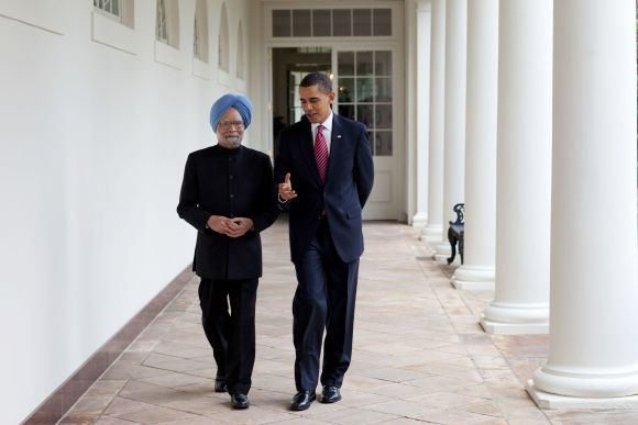 Obama with Prime Minister Manmohan Singh