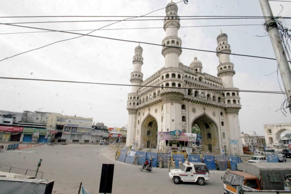 The curfew-hit streets of Hyderabad