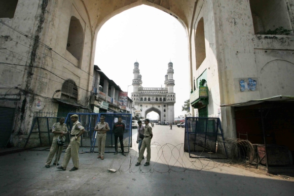 Security personnel deployed near Charminar