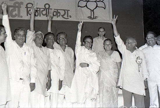 Thackeray with BJP-Shiv Sena Lok Sabha candidates