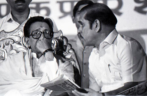 Thackeray with then Maharashtra CM Manohar Joshi