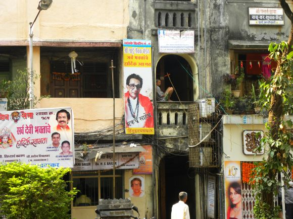 Tension over ailing Balasaheb Thackeray's health was evident in Shiv Sena bastion of Dadar where residents seemed to have taken the day-off