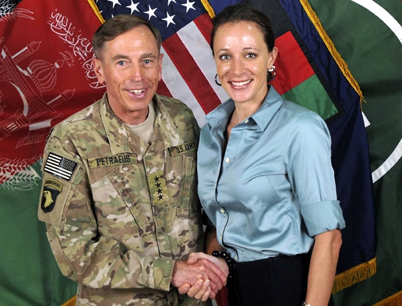 General David Petraeus with Paula Broadwell