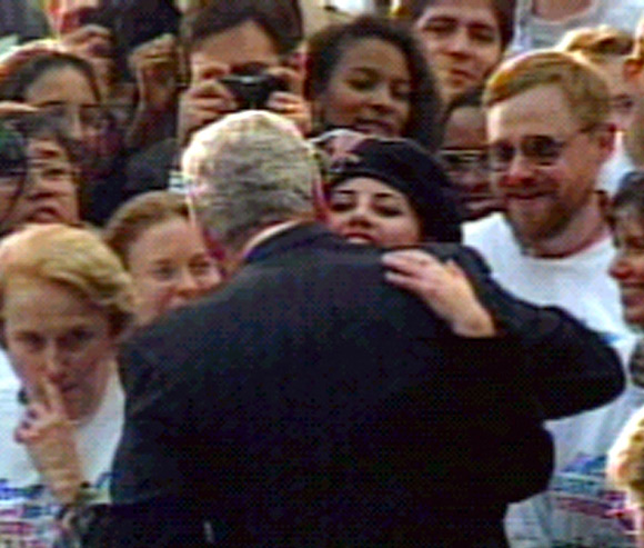 Monica Lewinsky with Bill Clinton