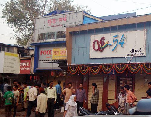 Shops shut down in Mahim, central Mumbai