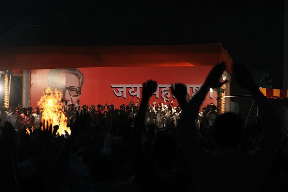 Shiv Sena supremo Bal Thackeray was cremated at Shivaji Park