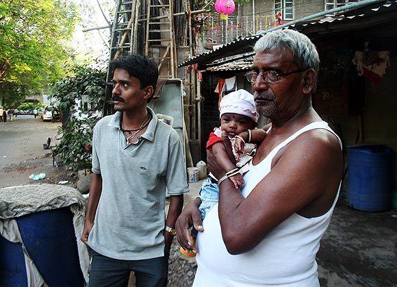 Thakur Vaghela's father Budhabhai Jethabhai Vaghela at his house behind Cama hospital
