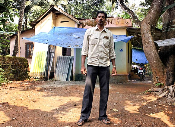Santhosh Kumar at his home in Kottayam, Kerala