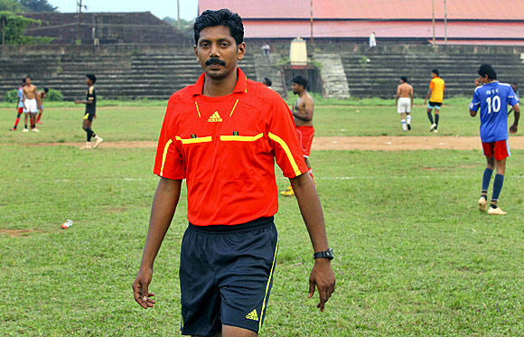 Santhosh Kumar at the Nehru Stadium, Kottayam