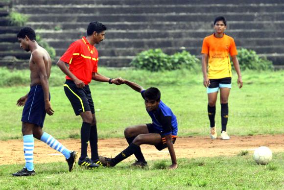 Santhosh works hard at keeping himself fit