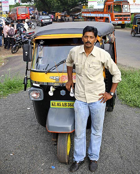 Santhosh pawned his wife's jewellery to buy an autorickshaw