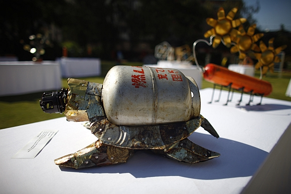 IN PICS: Mt Everest garbage turned into art