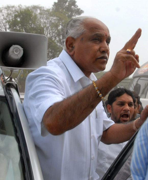 Yeddyurappa's rally at Freedom Park in Bengaluru in November