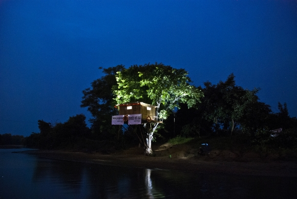 The tree house on the fringes of the Tadoba Tiger Reserve