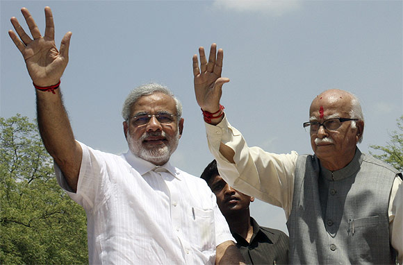 BJP leaders Modi and Advani