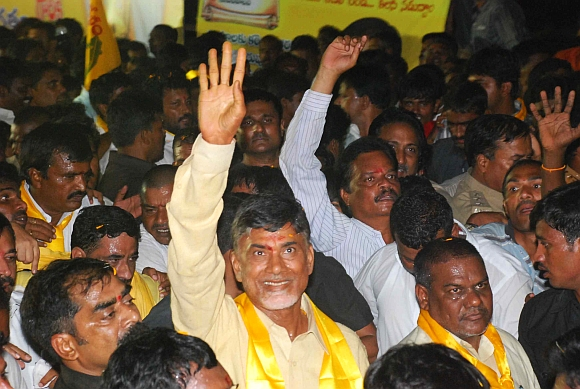 Telugu Desam Party supremo Chandrababu Naidu at the launch of his padyatra