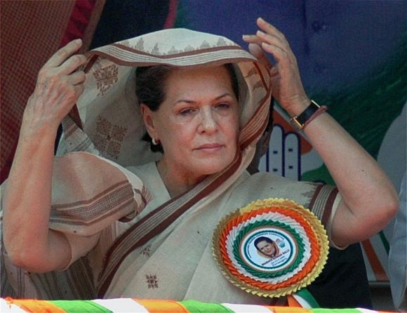 Sonia main theme was that the Congress was responsible for Gujarat's progress