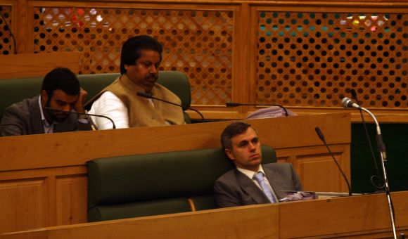 CM Omar Abdullah was present inside the assembly when the incident happened