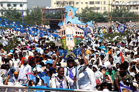 BSP supporters from  Maharashtra, Rajasthan, Bihar, Madhya Pradesh, Chhattisgarh, Jharkhand attended the rally