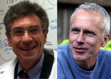 Robert Lefkowitz y el profesor Brian Kobilka Premio Nobel de Química 2012