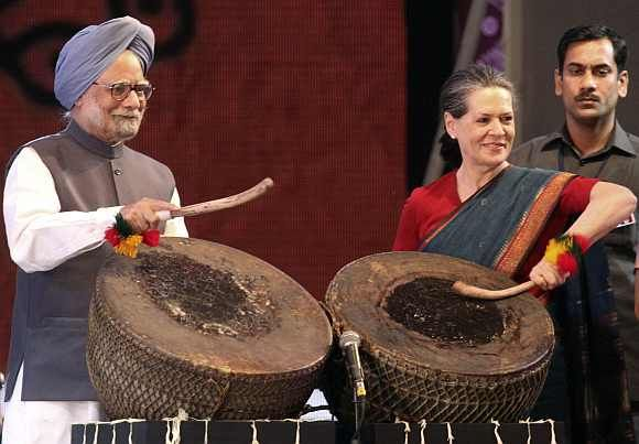 PM Manmohan Singh and Congress chief Sonia Gandhi