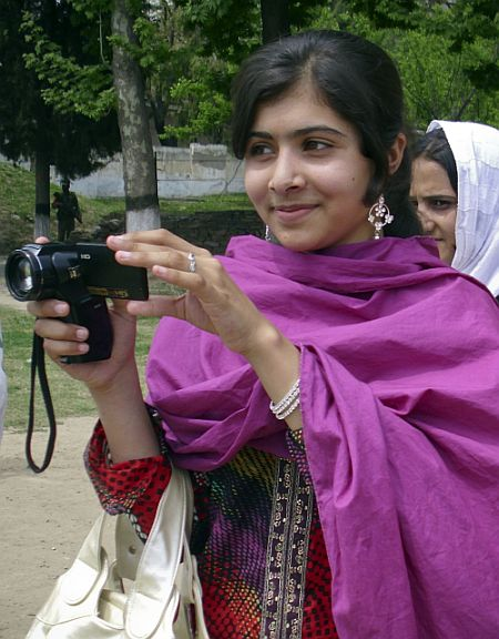 Malala Yousufazai, a 14-year-old schoolgirl, who was wounded in a gun attack, is seen in Swat Valley, northwest Pakistan, in this undated file photo. Taliban gunmen in Pakistan on October 9, 2012 shot and seriously wounded Yousufzai, a 14-year-old schoolgirl who rose to fame for speaking out against the militants
