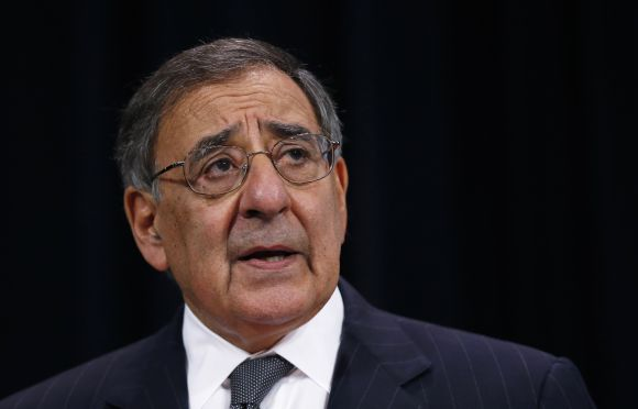 US Secretary of Defence Leon Panetta addresses a news conference in Brussels