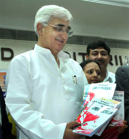 Union Law Minister Salman Khurshid finds himself at the heart of controversy