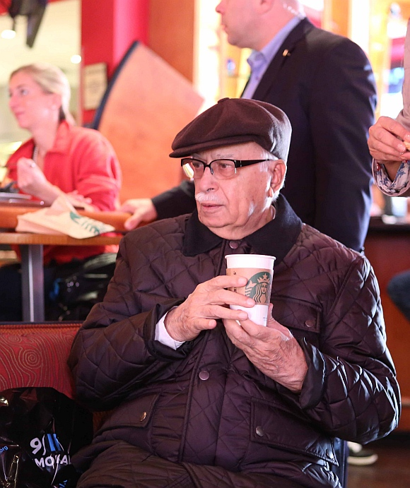 IN PICS: L K Advani enjoys a Starbucks in New York