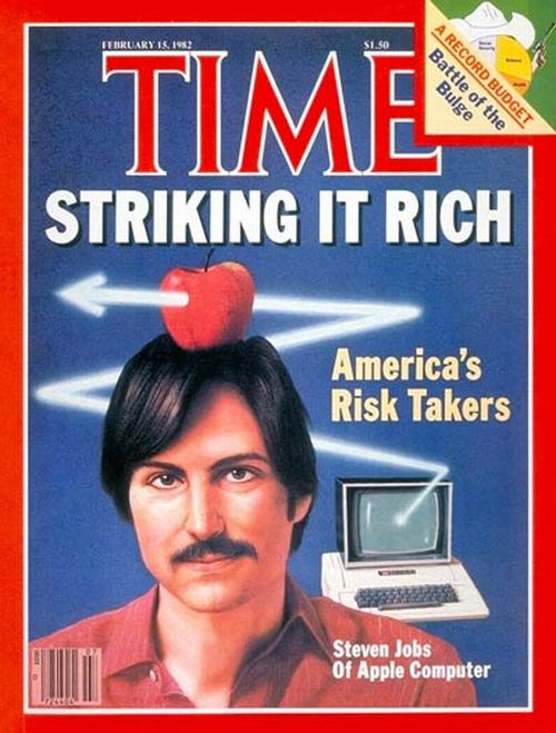 Steve Jobs on the cover of Time magazine's February 15, 1982 edition