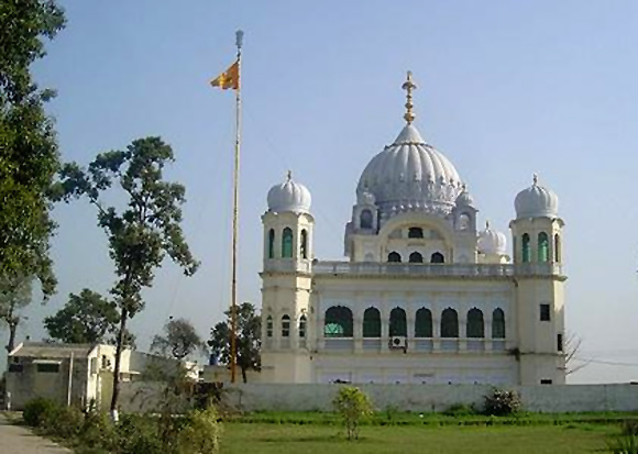 The gurdwara at Kartarpur Sahib